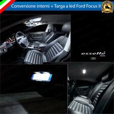 KIT LED INTERNI FORD FOCUS MK2 II KIT CONVERSIONE COMPLETA + LED TARGA 6000K