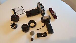 Chinon CX vintage camera in flight case