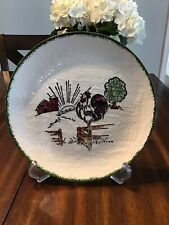 Blue Ridge Pottery Rooster Plate.