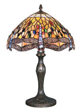 Dragonfly Tiffany Style Handmade Glass Table / Bedside Lamps - Christmas Gift