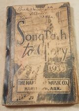 "Vintage Antique Church Hymnal songbook ""Songpath to Glory"" music book"
