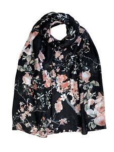 Floral Print Scarf Blossom Flower Super soft  Premium Pretty Hijab Cover Up Wrap