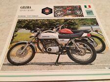 Carte moto Gilera 125 TG1 GR1 1977 collection Atlas Motorcycle Italie