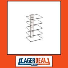 5-fach-Handtuchablage 150x265x120mm Edelstahl/Stahl Chrom Badartikel Bad Zubehör