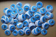 100 Neue Kronkorken 26mm Blau mit Druck Brauen Basteln Sammeln Hobbybrauer