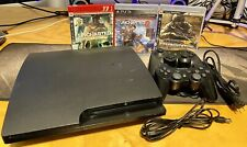 New listing Playstation 3 Ps3 Slim Cech-3001B / 2 Controllers / 3 Games