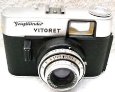**1960`s VOIGTLANDER VITORET 35mm VIEWFINDER CAMERA & LEATHER CASE VG CONDITION*
