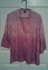 Raj kids one size fits all Tunic Top embroidered Indian Kurta shirt pink girls
