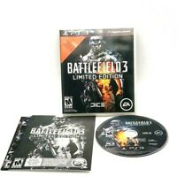 Battlefield 3 Limited Edition Sony PlayStation 3 PS3 Complete EA Dice Excellent
