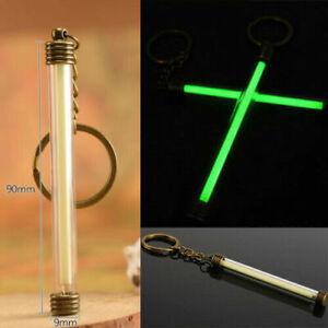 Tritium Tube Fluorescence Keychain Green Glow Stick 25-Years Underwater 100M
