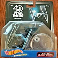 Disney Hot Wheels Star Wars Starships 40th Anniversary Tie Fighter Sealed NEW