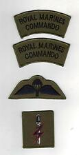 SPECIAL FORCES SUPPORT GROUP SFSG ROYAL MARINES BADGE SET - SUBDUED