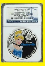 2015 Niue 1 Oz Colorized $2 Disney Princess:CINDERELLA NGC PF70 UC ER POP 302