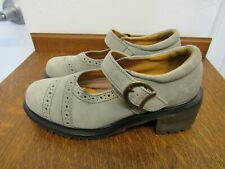 Dr Martens Gray Brown Suede Mary Jane Shoes Sz 6