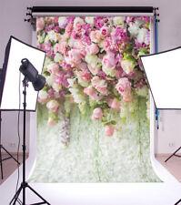 Purple Flowers Wall Backdrop Vinyl Wedding  Prop Photography Background 5x7FT