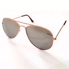Gafas de sol gafas de sol Piloto Aviador Gafas tipo Espejo Aviador Cobre Plata