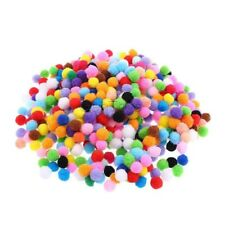 LOT de 50 POMPONS BOULES MULTICOLORES acrylique 15mm bijoux bracelet scrap
