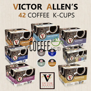 Victor Allen's Coffee 42 K-Cups Capsule For KEURIG Single Serve Pod All Flavors