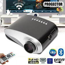 7000 Lumen Full HD 1080P LED 3D LCD VGA HDMI TV Home Theater Projector Cinema US