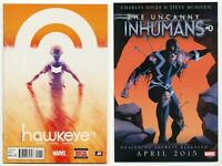 All New Hawkeye #1 w/ Promo Poster NM+ Clint Barton & Kate Bishop 2015 Marvel