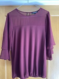 Ladies Plum Coloured Blouse From The Collection Debenhams UK Size 10