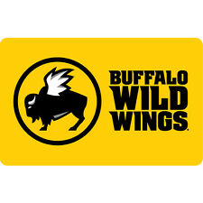 $10 / $25 Buffalo Wild Wings Physical Gift Card - 1st Class Mail Delivery
