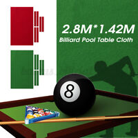 Durable Pool Cloth Felt Green W/ 6 Strips Worsted For 9FT Snooker Pool Billiards