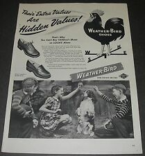 Print Ad 1944 Footwear Weather-Bird Children Shoe Rooster English Cocker Spaniel
