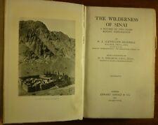 1927 The WILDERNESS of SINAI Llewellyn Beadnell EXPLORATION Geologist DESERT
