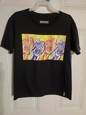 FORTNITE Video Game Dance moves  Skully Troop New Boys Youth T-Shirt 10-12
