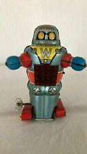 "Robot ""W"" originale di latta Noguchi made in Japan anni '60 funzionante cm. 17"