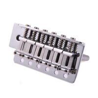 1 Set 6 Strings Chrome Guitar Tremolo Bridge With Bar Accessaries For Fd Strat