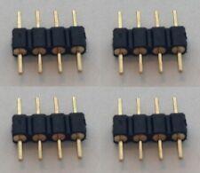 5 X RGB SMD LED Stecker Verbinder Connector Strip Kabel leiste Adapter 4 Pol Pin
