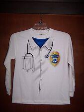 NWT WHITE DOCTOR EMT HALLOWEEN DRESS UP T-SHIRT SZ Medium 10-12 Free US Shipping