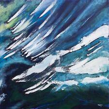 Superbe original Bryony Harrison incendie de forêt III trempe peinture abstraite