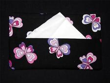Fabric Tissue Holder - Black Butterflies