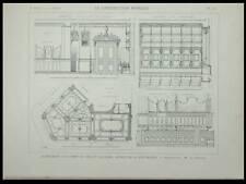 PARIS, 55 AVENUE DE LA REPUBLIQUE 1899-PLANCHE ARCHITECTURE  BAR, GEORGES ARNOLD