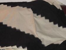 tissu toile coton tissé ameublement noir et blanc  au mètre