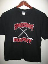 Spacecoast Ice Hockey Sticks Iceplex Rockledge Florida USA Sports T Shirt XLarge