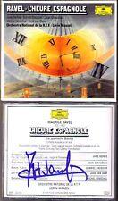 Jose van Dam signed Ravel L 'HEURE ESPAGNOLE Jean Giraudeau JANE BERBIE Maazel CD