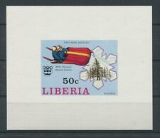 LIBERIA EPREUVE DE LUXE 1976 OLYMPIA WINTER OLYMPICS LUXUSBLOCK c2062