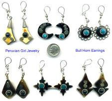 5 Bull Horn Earrings Rodeo Cowgirl Jewelry Peruvian Lot