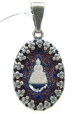 SoHo Anhänger vintage oval bohemia Buddha handgemachtes Glas blau violett