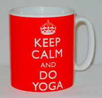 Keep Calm And Do Yoga Mug Can Personalise Great Health Fitness Pilates Gift Cup