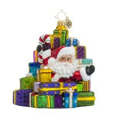 Christopher Radko Lots to Deliver Santa Claus and Presents Christmas Ornament