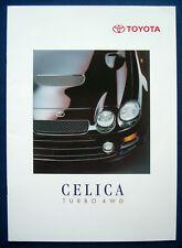 Prospekt brochure 1995 Toyota Celica Turbo 4WD (CH)