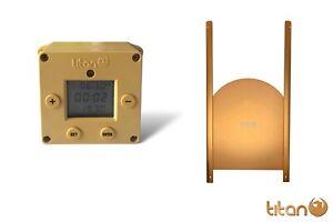 Titan CUBE Light Sensor & Timer Automatic Chicken Coop Door Opener + Curved Door