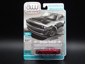 2021 AUTO WORLD 2018 DODGE CHALLENGER SRT DEMON 2A ULTRA RED CHASE PIECE