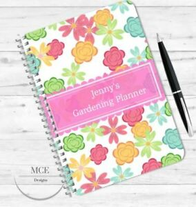 A5 PERSONALISED GARDENING PLANNER/ NOTEBOOK
