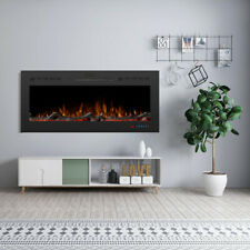 36/42/50'' 1500W Wall Mounted Electric Fireplace Insert Heater Remote Christmas
